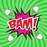 Bam! komisches Wort Lizenzfreie Stockfotos