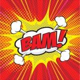 BAM! palavra cômica Imagens de Stock Royalty Free