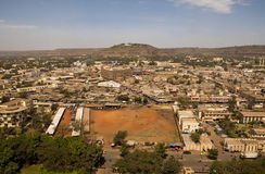 Bamako, Mali. Aerial view of Bamako capital of Mali Royalty Free Stock Photo