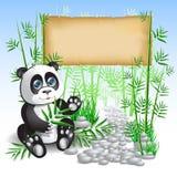 Bambù del panda Fotografia Stock