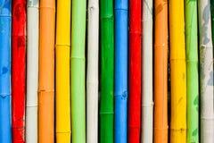 Bambù di colore Fotografia Stock