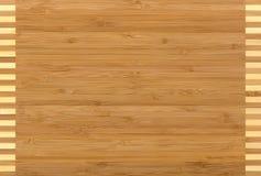 Bambù di legno di struttura Immagine Stock