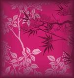 Bambù e fiore illustrazione di stock