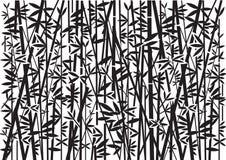 Bambù, fondo nero decorativo royalty illustrazione gratis