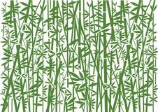 Bambù, fondo verde decorativo illustrazione di stock