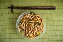 Bambù fritto della vite senza fine Immagine Stock