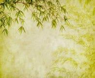 Bambù sulla vecchia carta di lerciume Immagini Stock Libere da Diritti