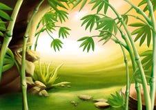 Bambú stock de ilustración