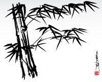 Bambú 3 ilustración del vector