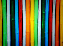 Bambú colorido. Fotografía de archivo libre de regalías