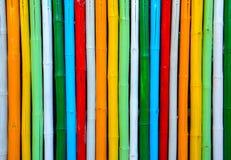 Bambú colorido. Fotos de archivo libres de regalías
