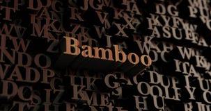 Bambú - 3D de madera rindió las letras/mensaje Foto de archivo