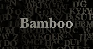 Bambú - 3D rindió el ejemplo compuesto tipo metálico del título Imagenes de archivo