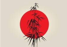 Bambú de Japón ilustración del vector