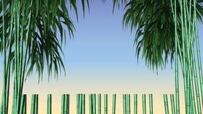 Bambú decorativo del marco del vector del diseño Fotos de archivo libres de regalías