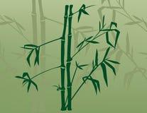 Bambú en la niebla ilustración del vector