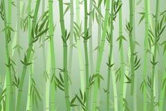 Bambú Forest Landscape Background de la historieta Vector Imagen de archivo