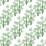 Bambú inconsútil del modelo para un fondo ilustración del vector
