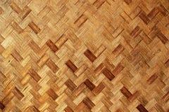 Bambú Mat Background Texture de punto Fotografía de archivo