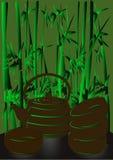 Bambú y taza de té Fotografía de archivo