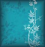 Bambú y flor Fotos de archivo libres de regalías