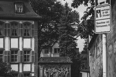 Bamberg B&W väggar fotografering för bildbyråer