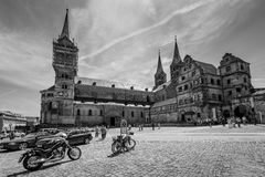 Bamberg Cathedral, black and white Stock Photos