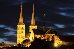 Bamberg Cathedral at night Royalty Free Stock Image