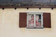 Bamberg, Duitsland - 04 01 2013: meningen van de straten van Bamberg in zonnig weer stock afbeelding