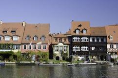 Bamberg-Fluss-Häuser Lizenzfreie Stockfotografie