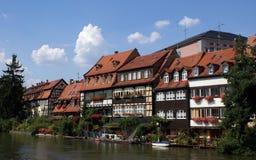 Bamberg-Flussufer-Häuser Lizenzfreies Stockbild