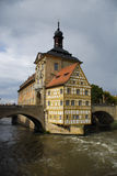 Bamberg - Germany. House on the bridge in Bamberg (Germany royalty free stock photos