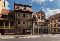 Bamberg, Germany. Beautiful old buildings on the street of the Capuchins Stock Photo