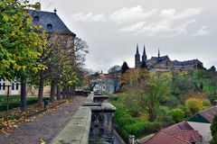 Bamberg, Germany, Famous place- rose garden. Stock Image
