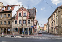 Bamberg, Germany. Historic building on the street of the Capuchins in the historic city Royalty Free Stock Photo