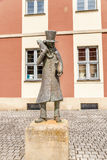 Bamberg, Germany. Monument romantic writer Ernst Theodor Amadeus Hoffmann Stock Photos