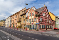 Bamberg, Germany. Picturesque old houses on the street of the Capuchins Stock Photos