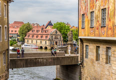 Bamberg, Germany. Schlachte House - the old slaughterhouse yard (1742), a monument to St. Kunigunde Stock Image