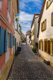 Bamberg, Germany. A street in the Jewish quarter. Bamberg - a city of district subordination in Bavaria, Germany on the river Regnitz. Bamberg, like Rome, is stock images