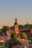 Bamberg Historical Evening. View on the Altenburg in the evening in the world culture heritage city of Bamberg in Germany Stock Photos