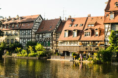 Bamberg Homes along the River Stock Images