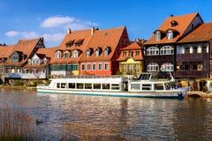 Bamberg lilla Venedig, flod Pregnitz, Franconia, Bayern, Royaltyfri Fotografi