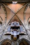 Bamberg Niemcy, Czerwiec, - 04, 2016: Promienie spada na organie światło Obraz Stock
