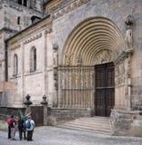 Bamberg Niemcy, Czerwiec, - 04, 2016: Przewdonik mówi grupa a Zdjęcia Stock