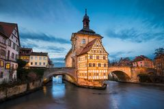 Bamberg at night, Germany Stock Photography