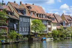 Bamberg, old buildings architecture royalty free stock photo