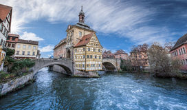Bamberg. Old city hall in Bamberg,Bavaria Germany,location in upper Franconia on river Regnitz ,UNESCO world heritage site Royalty Free Stock Photo