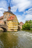 "Bamberg. Old Town Hall (1461), ""Corporal House"" (1668) and the Upper Bridge (1453) Stock Images"