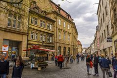 Bamberg, old town street Royalty Free Stock Image