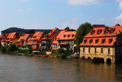 Bamberg pier and embankment Stock Image